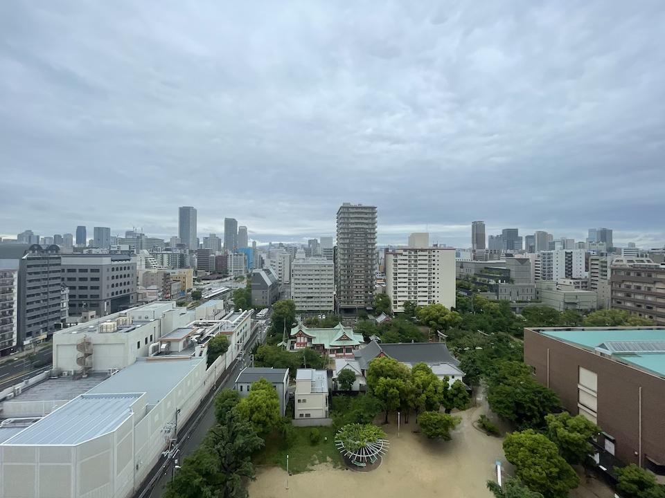 土佐稲荷神社を望む眺望