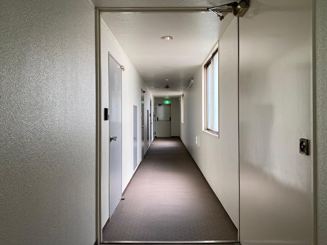 渋ビル感漂う廊下