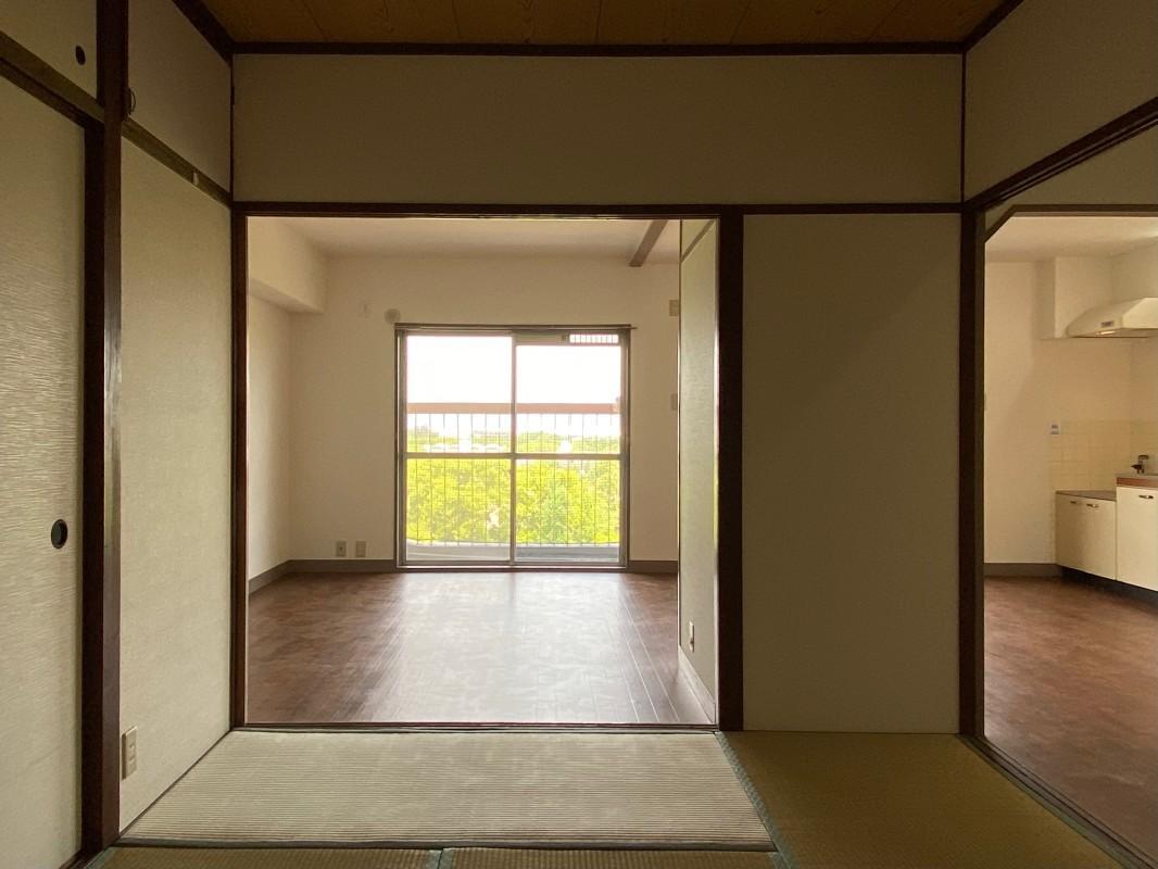 和室の建具を取ると開放感が一気に出ます。