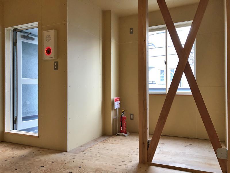 杉板フローリングの2階部分