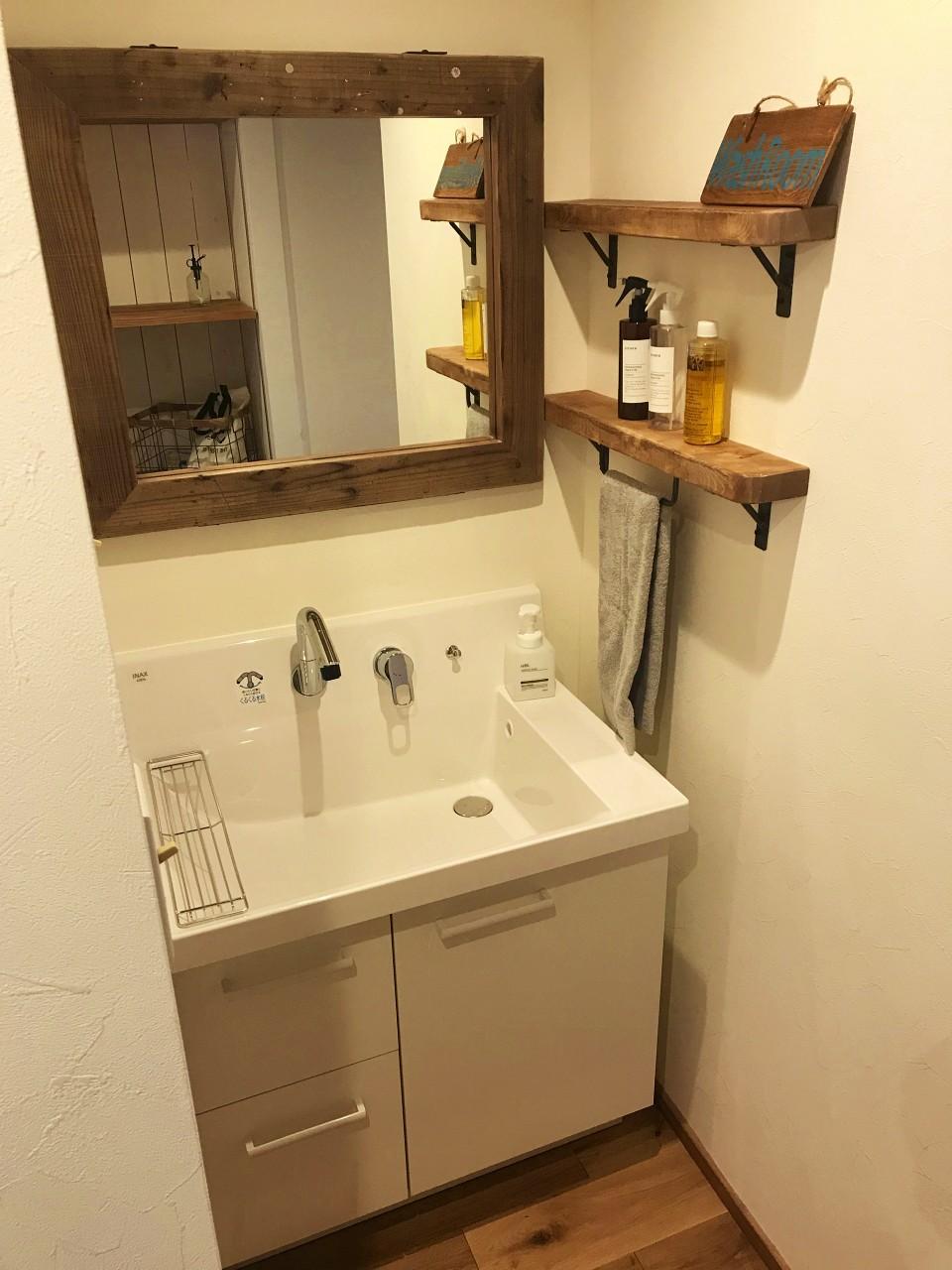 廊下にある洗面スペース