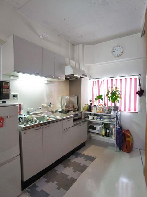 ワンルームマンションとしては十分な広さのキッチン周り。