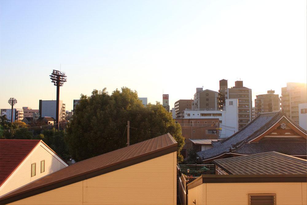 眺望はギリギリ屋根の上で抜けています