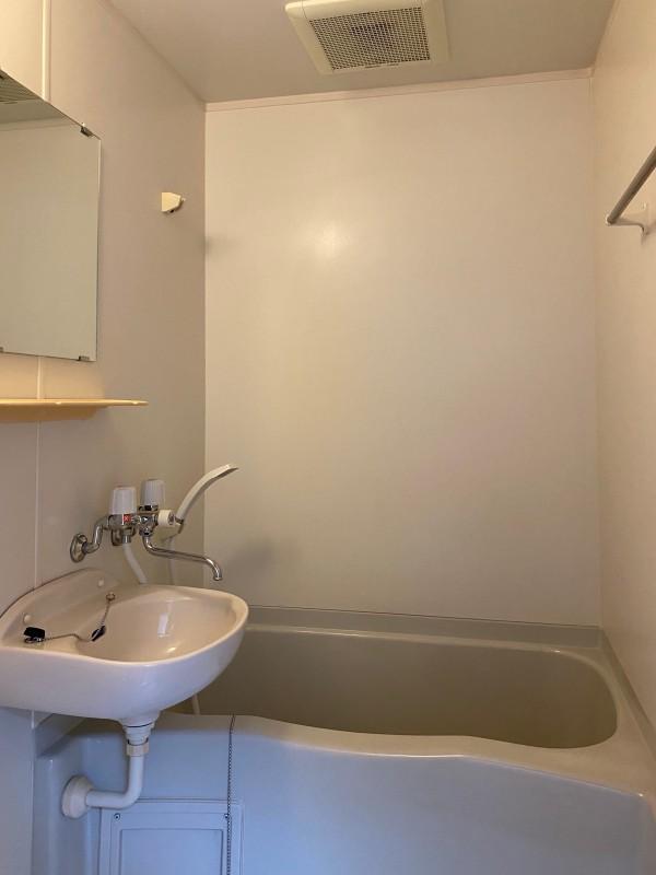 浴室は浴槽と洗面がユニットのタイプ