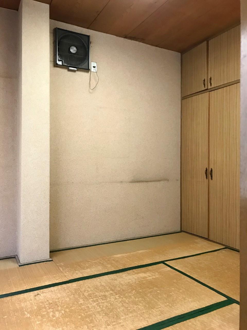 4階にある更衣室跡