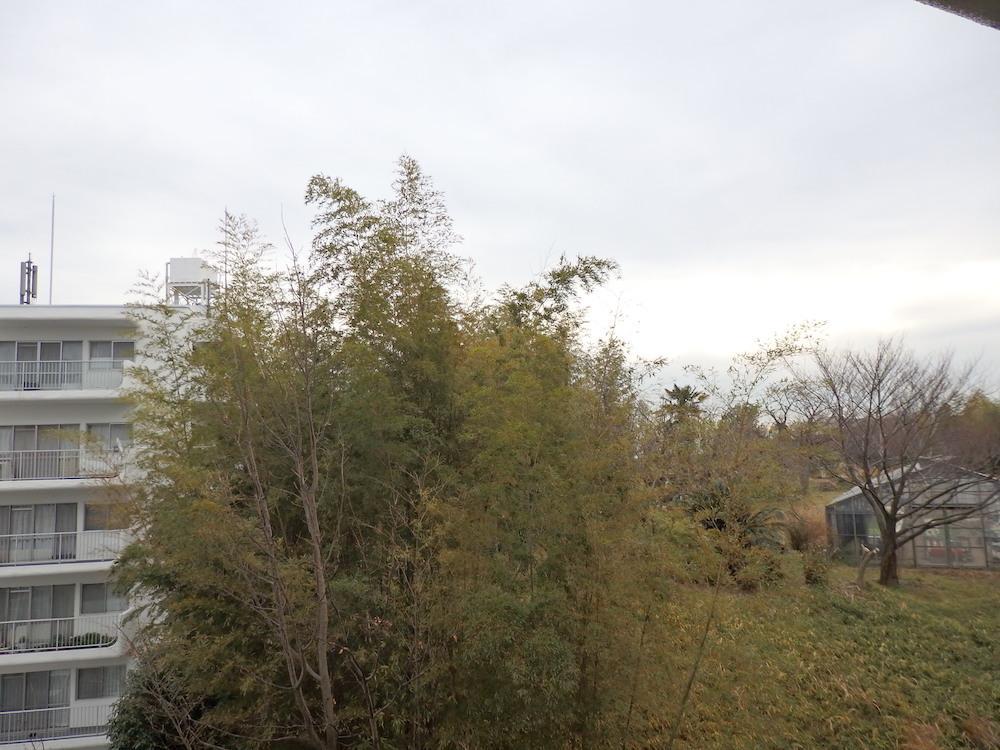 バルコニーからの眺望。同じ敷地内のA棟もチラリ