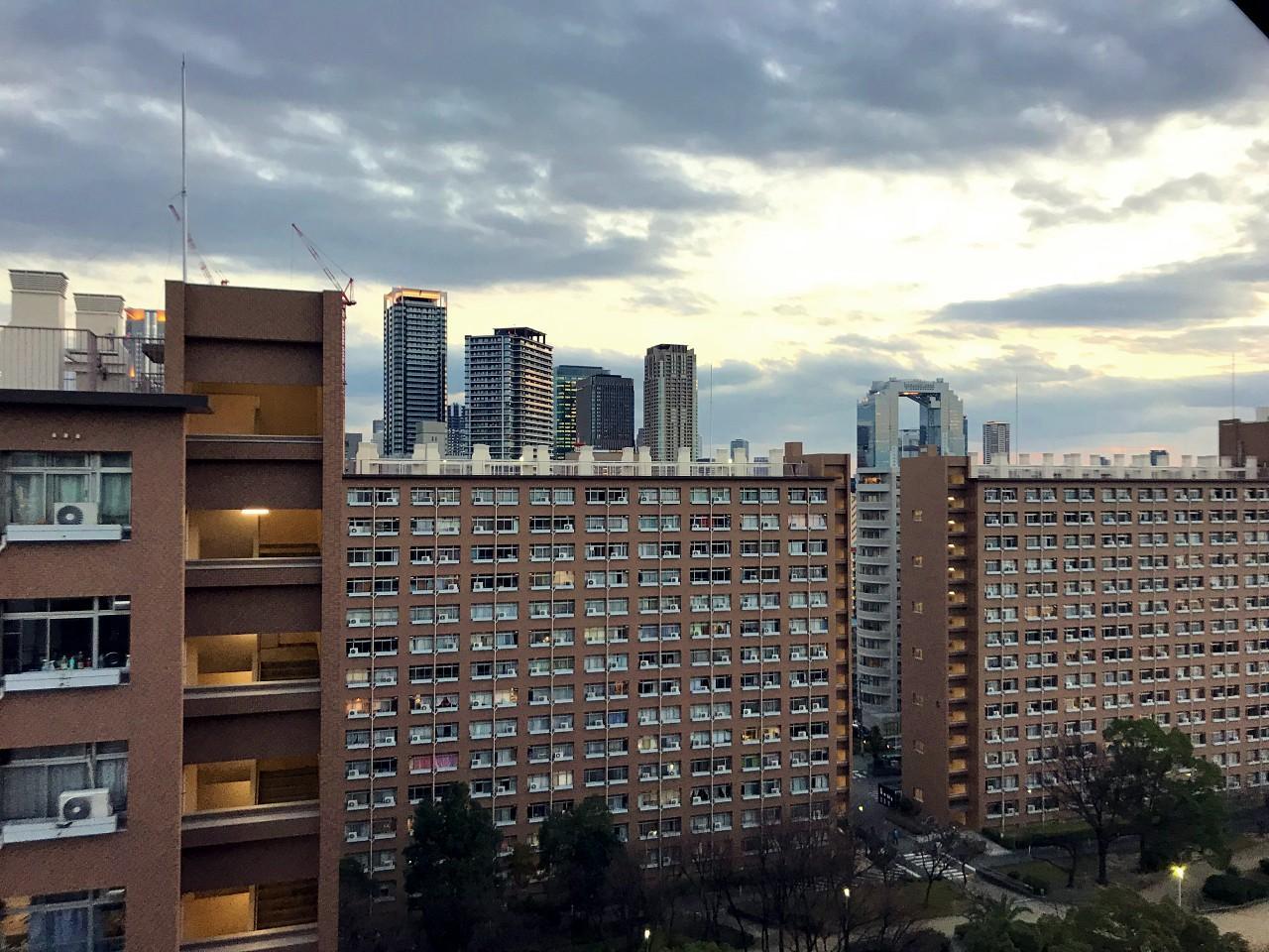 14階洋室からの眺望(梅田ビュー)