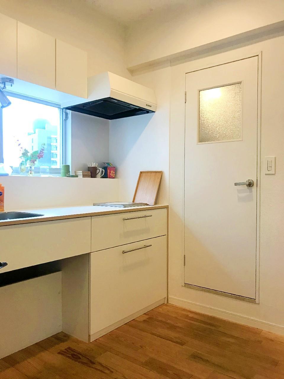 キッチンスペースも優しげな雰囲気