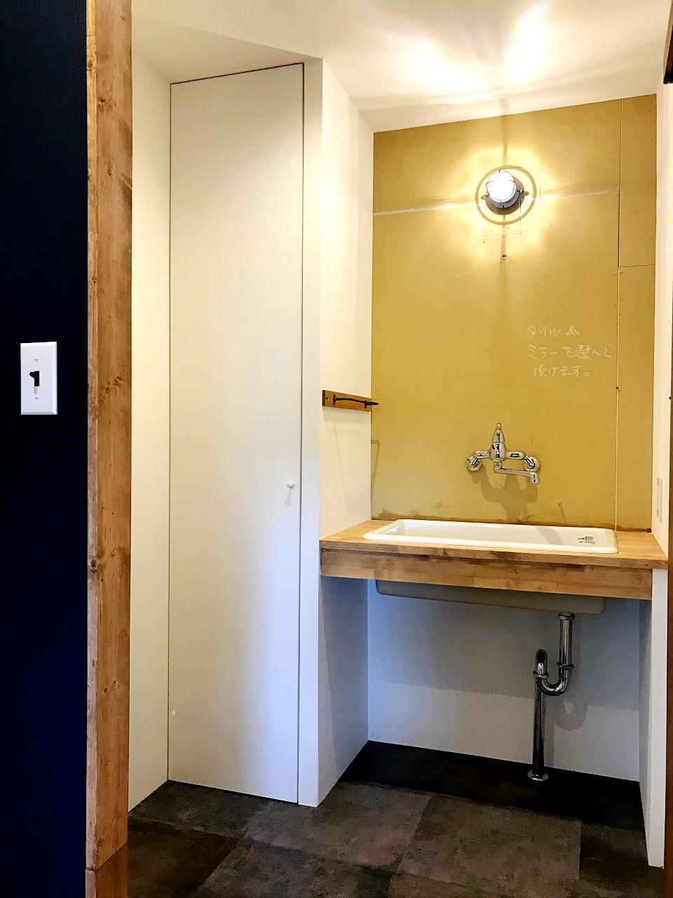 洗面スペースの壁タイルも選べます
