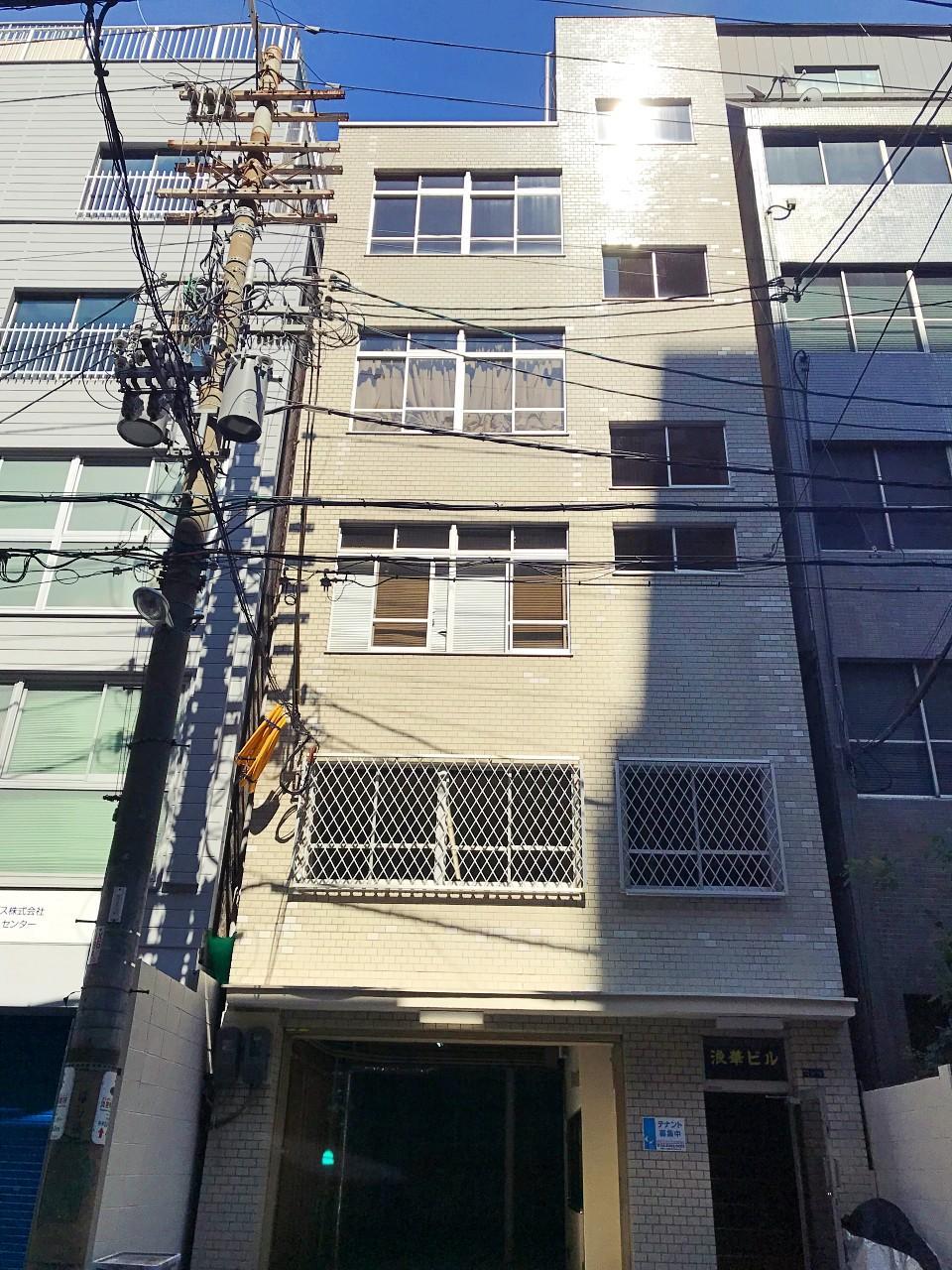 博労町にあるレトロビル、その1-2階です