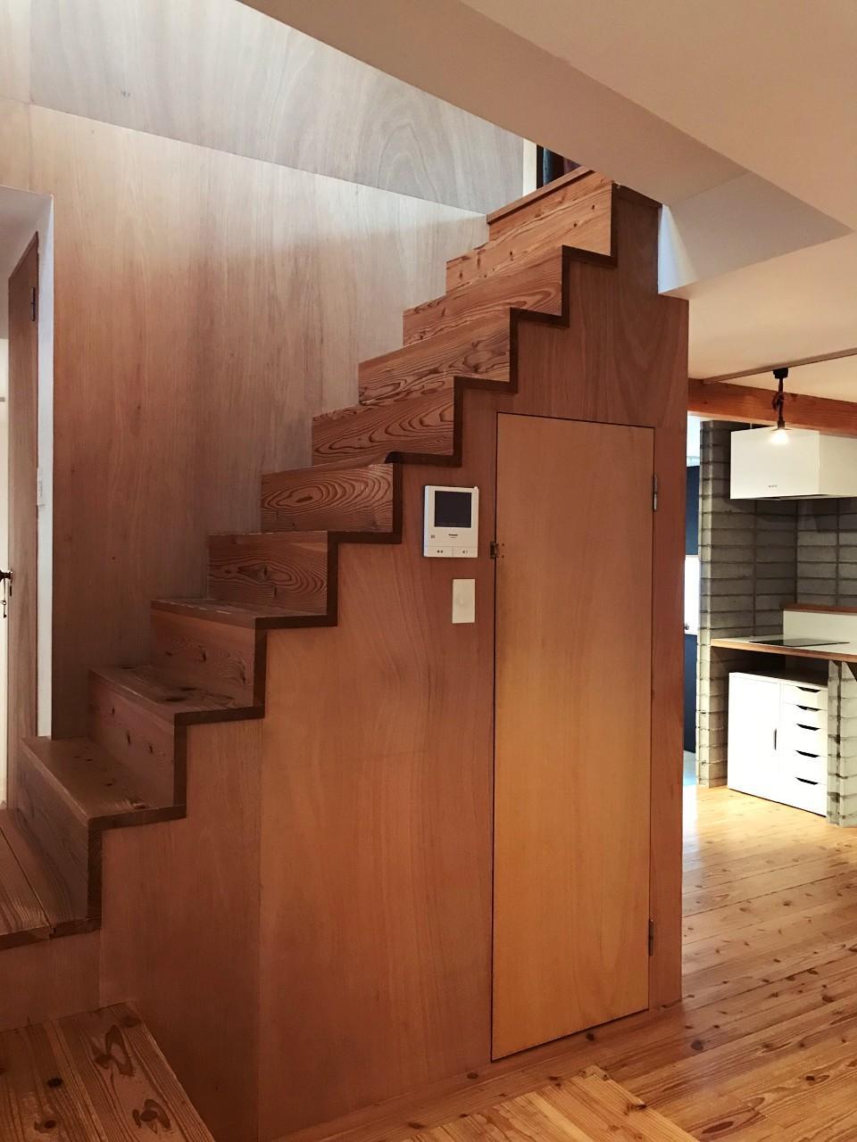階段下も収納スペースです