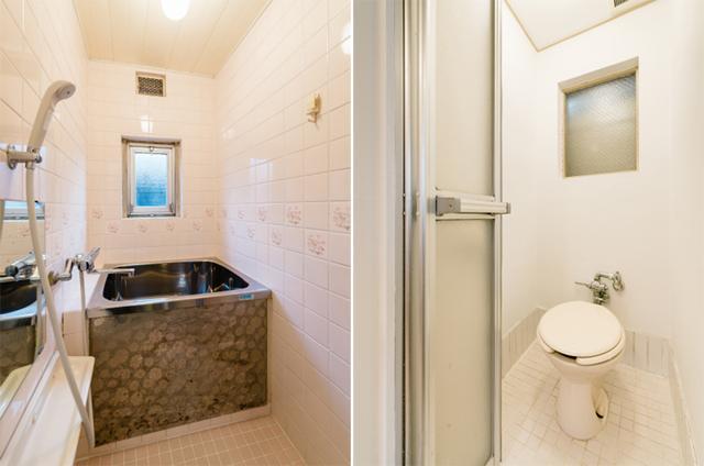 お風呂・トイレも既存再利用