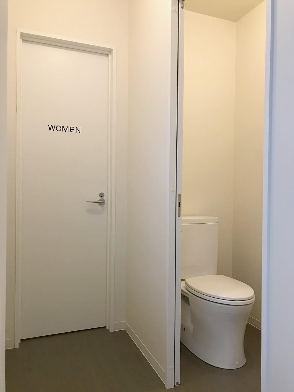 新設されたトイレは男女別です