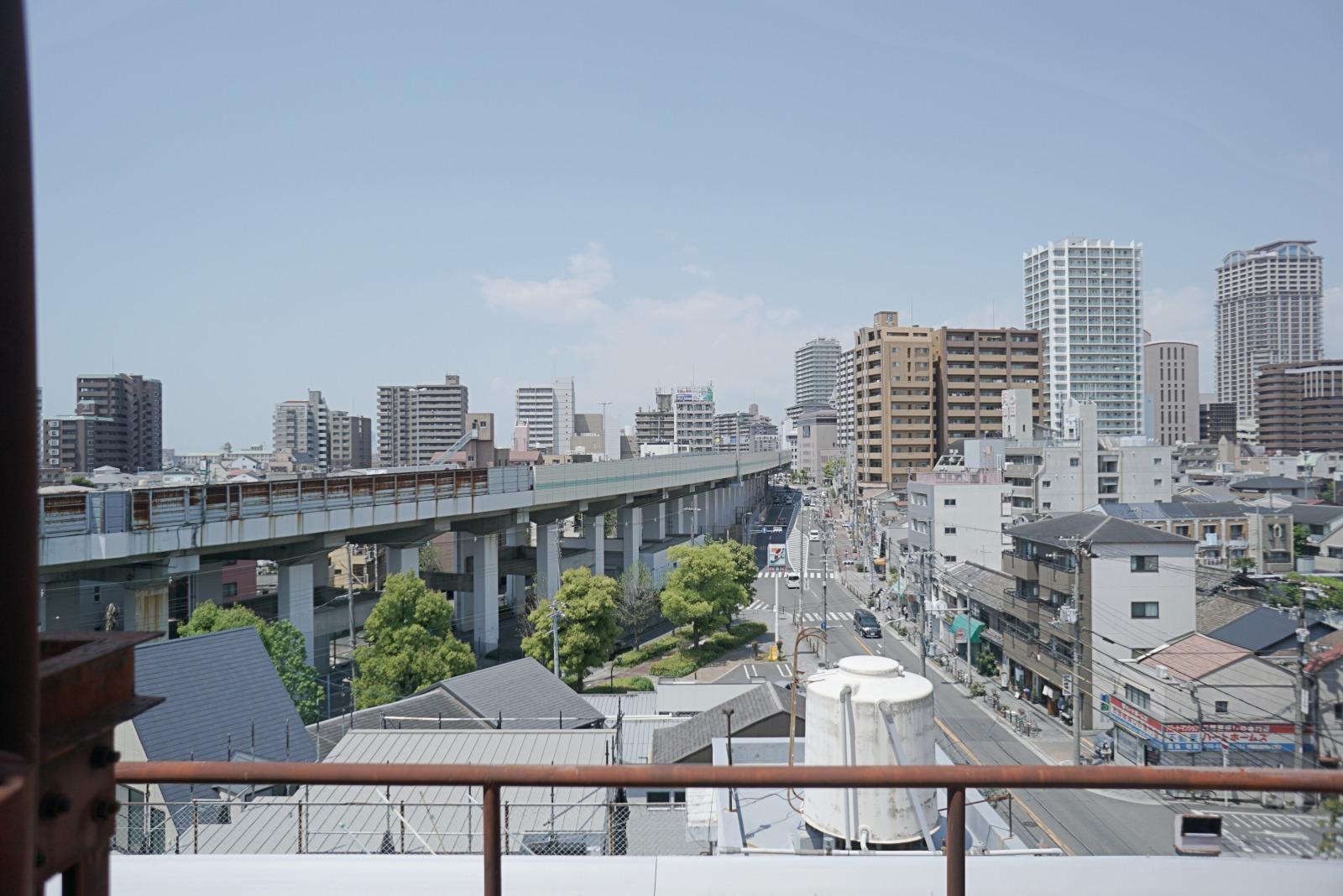 屋上西側の眺望