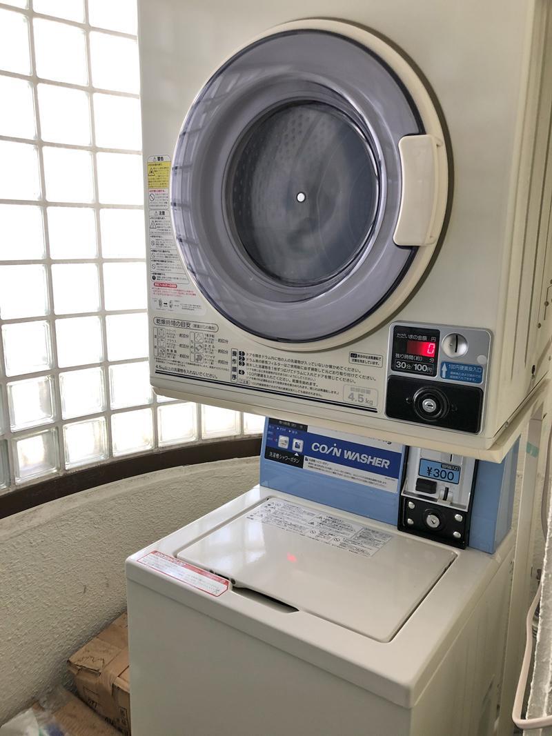 洗濯・乾燥機が共用であります