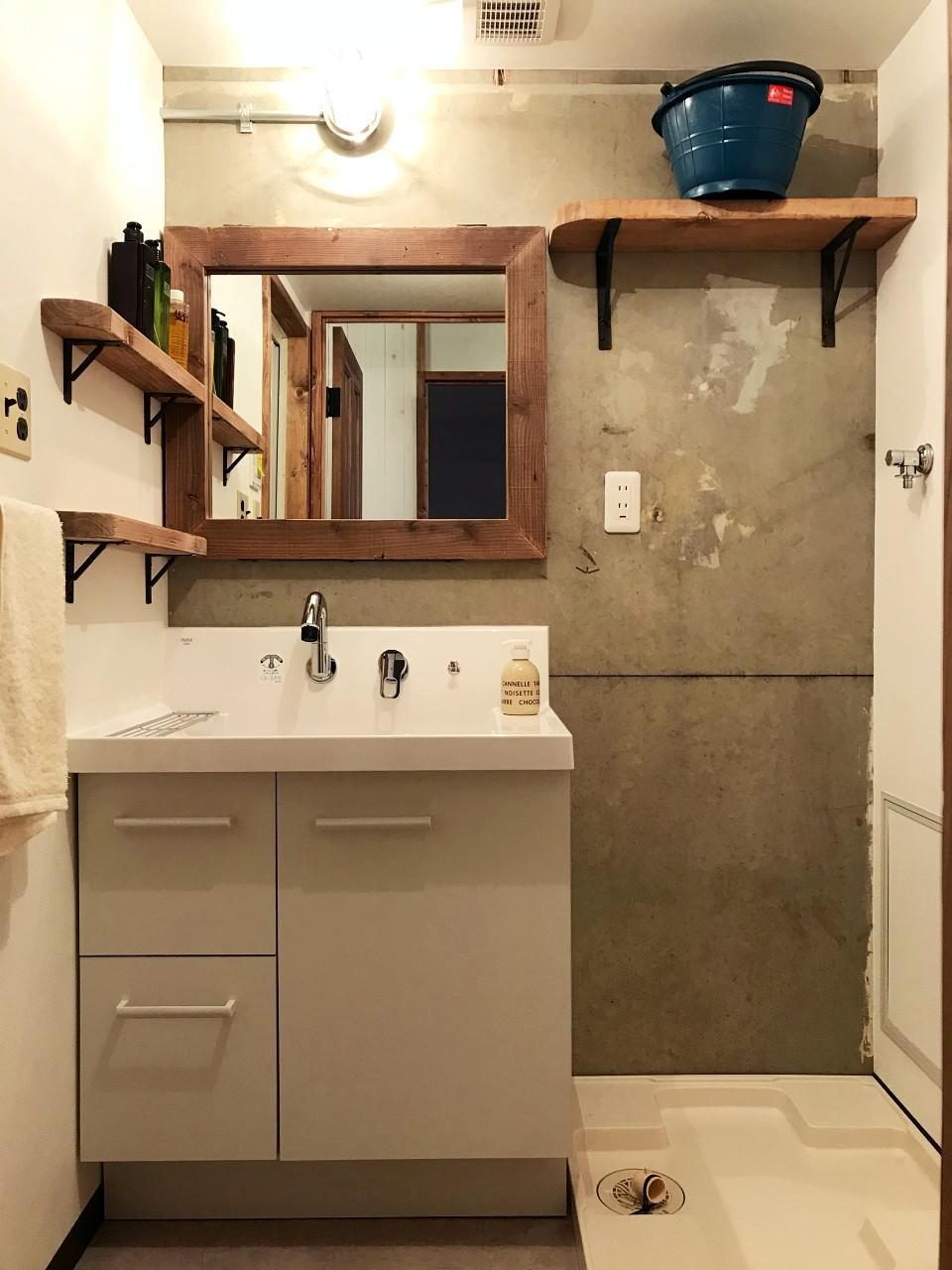 洗面だって手を抜かず雰囲気を統一