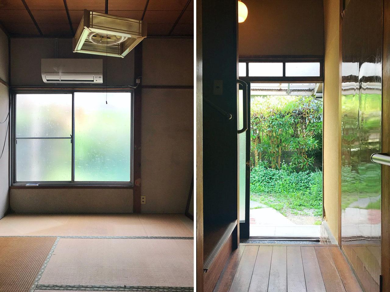 窓越しに緑を感じられる家です