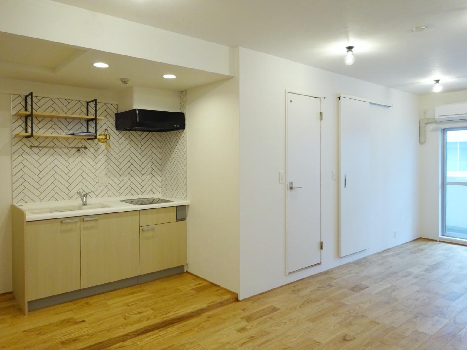 キッチン、トイレ、浴室への動線も便利そう