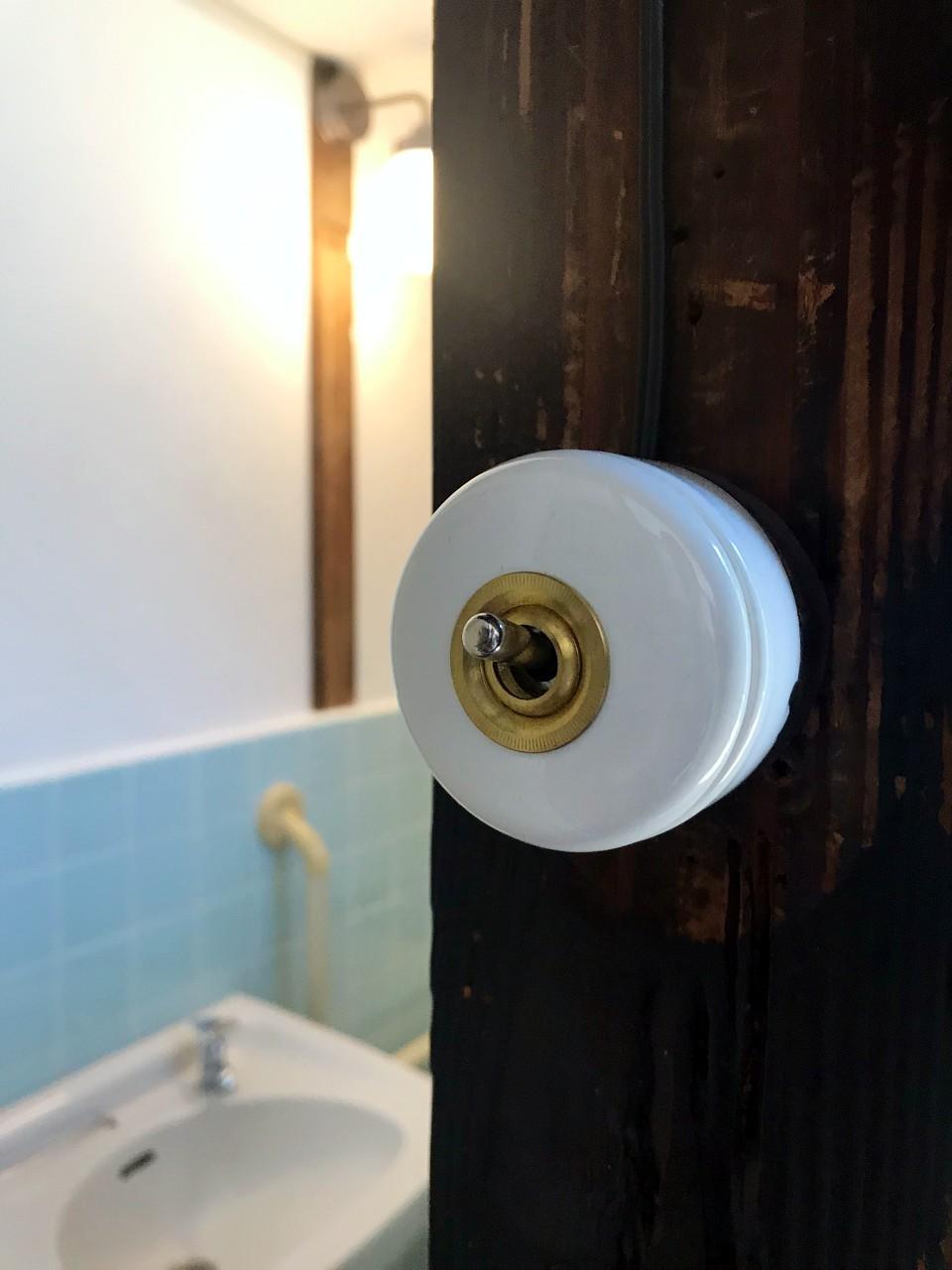 家主さんがつけてくれた照明スイッチ