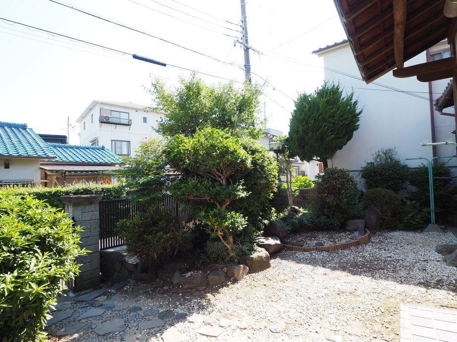 南側の専用庭