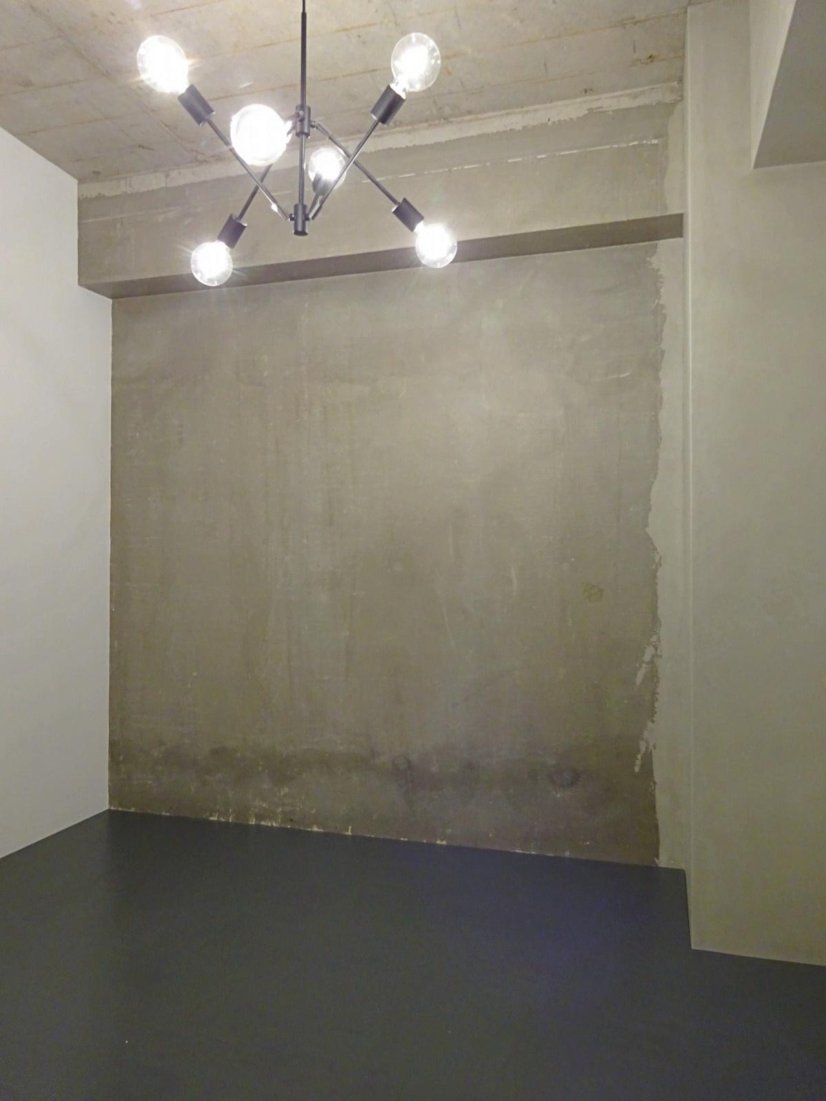 もう一つの洋室もコンクリートの質感を活かした内装