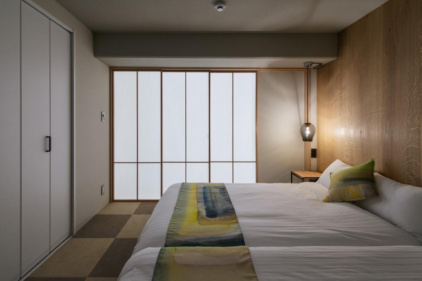寝室は障子で仕切ることでプライバシーも確保。