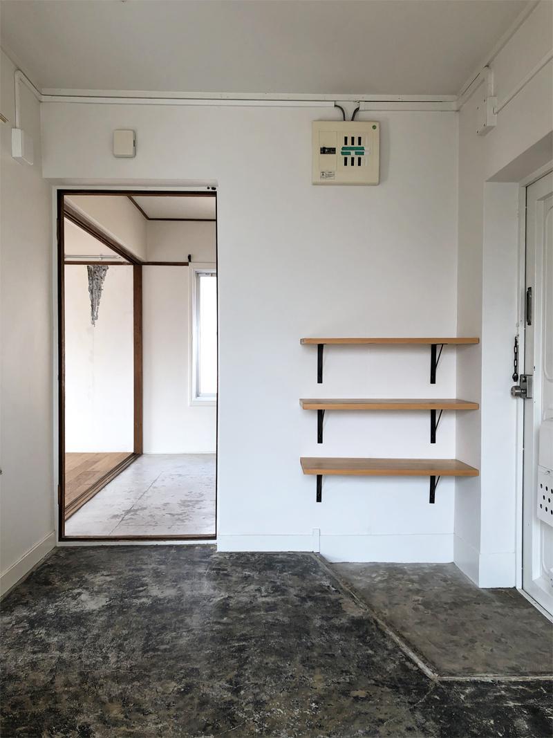 気の利く玄関棚