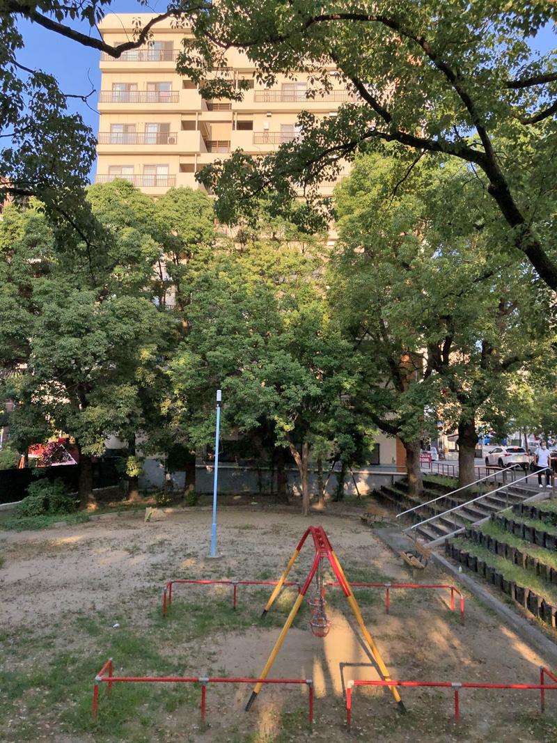 公園目の前の立地