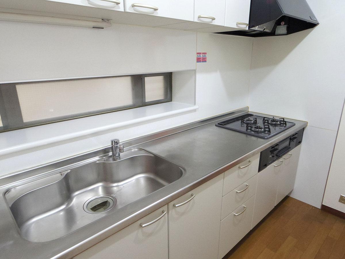 しっかりと調理スペースも設けられ、料理しやすそう