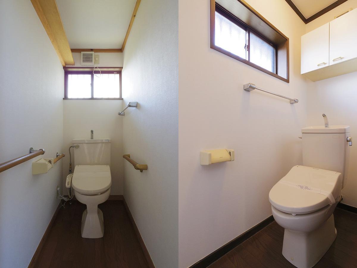 トイレは各階に一つずつ