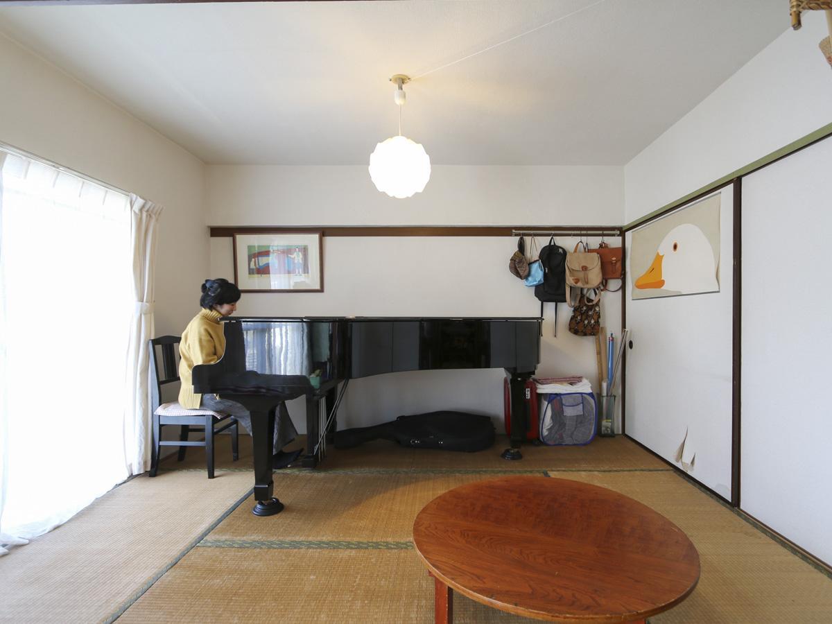 リビング横6畳の和室。ゆとりのある広さが嬉しい