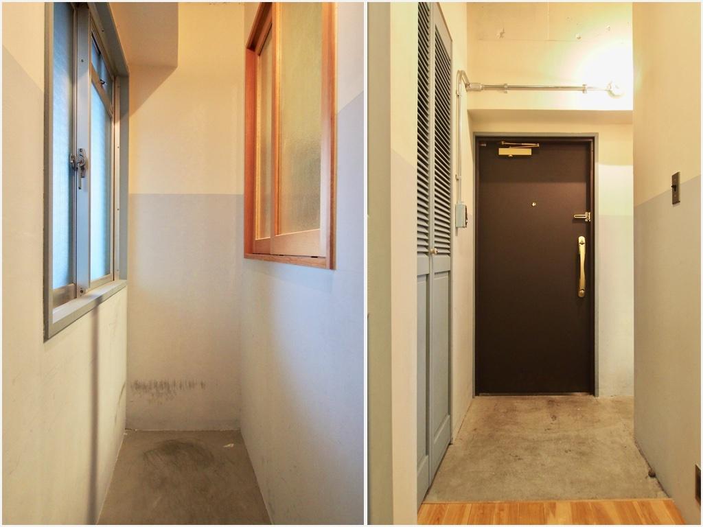 土間スペースがゆったりとつくられた玄関。ベビーカーなど置けて便利