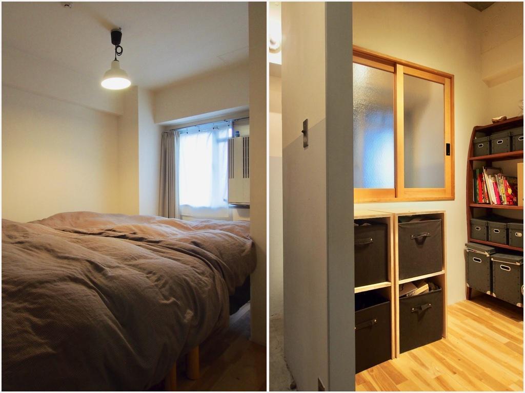 二つの個室は、一つを寝室に、一つを子ども部屋に想定してつくられている