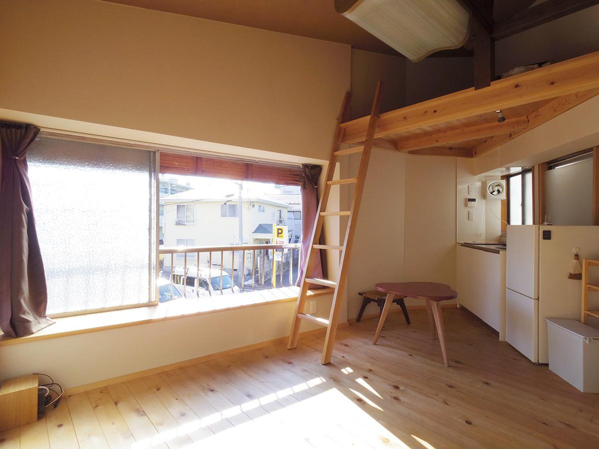 キッチンの上部がロフトスペース