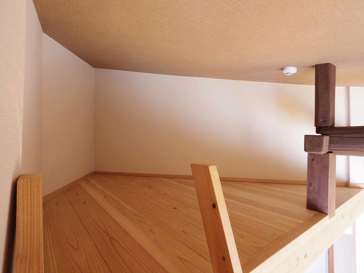 高さは勾配天井のため80cm~1.2m