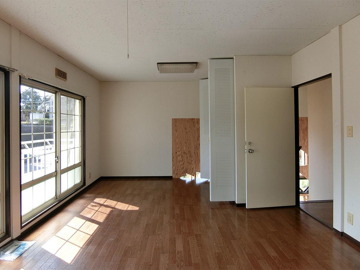 A棟の2号室:南側の部屋。日当たりが良い