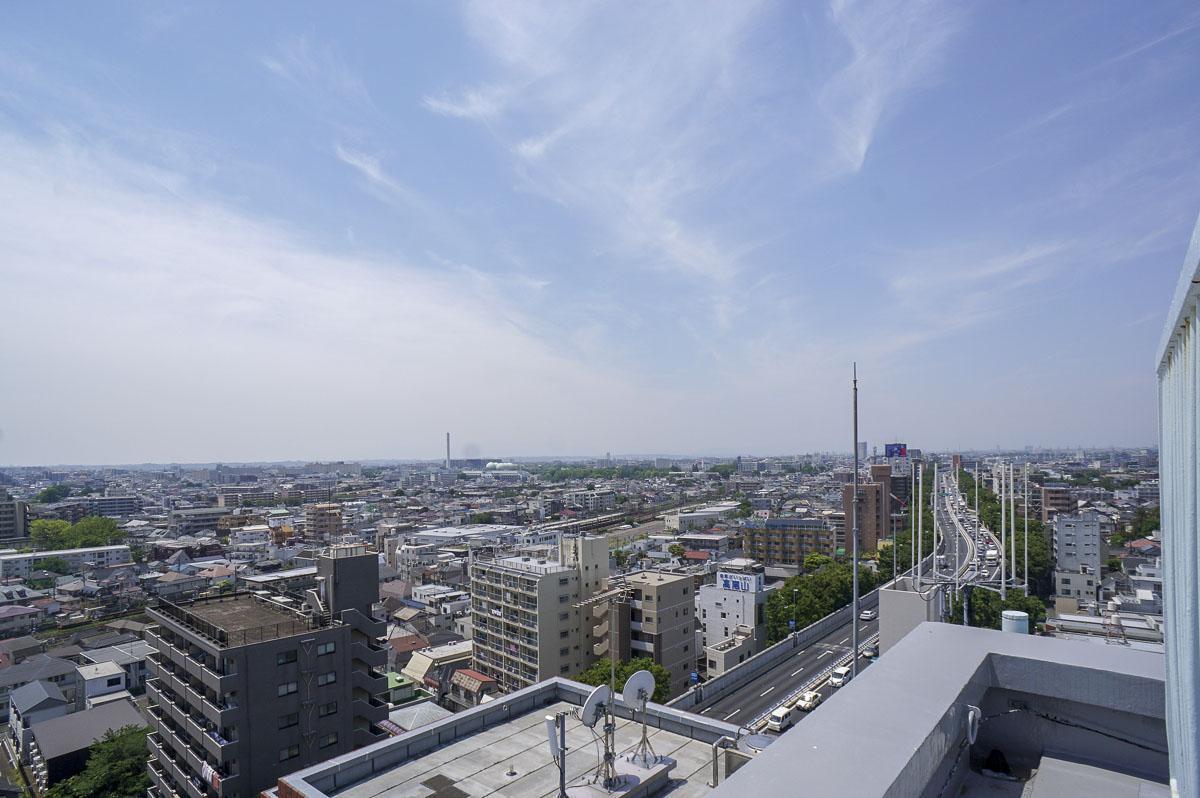 屋上からの眺め 気持ちいいー!