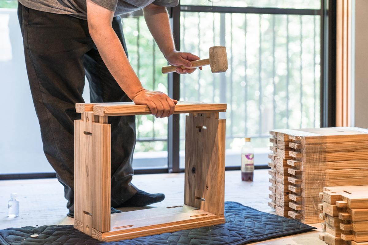 木製モジュールは何度でも組み直しが可能です