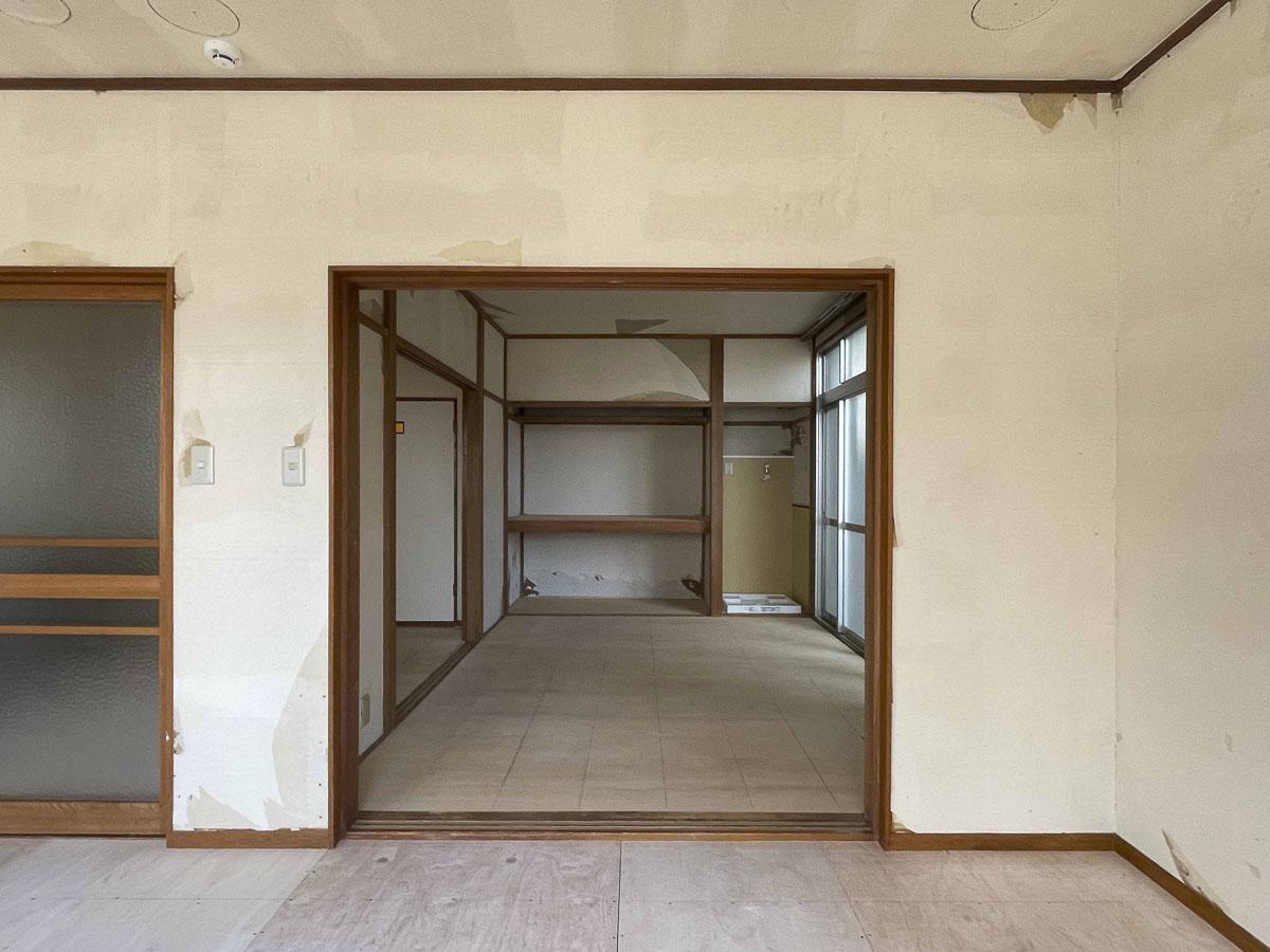 9.2畳と6畳の間の建具は取り払われている