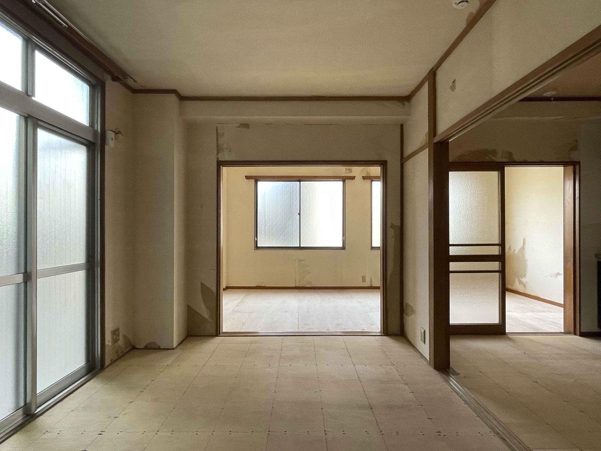 6畳の部屋からの視点