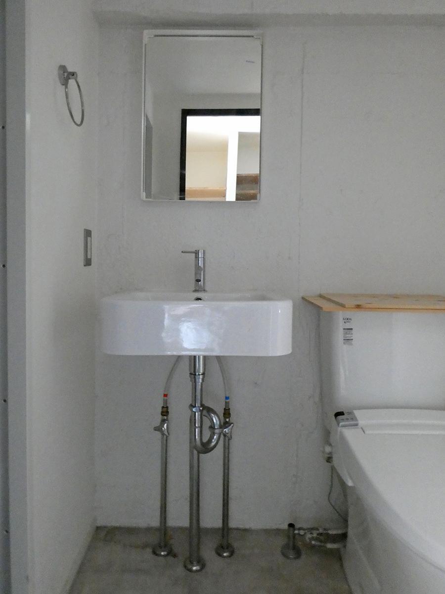 洗面。トイレと同じスペース
