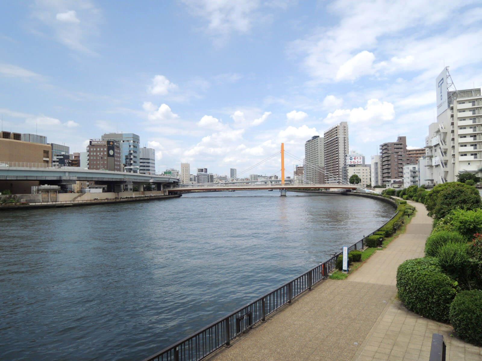 隅田川テラスは散歩やジョギングにうってつけ!