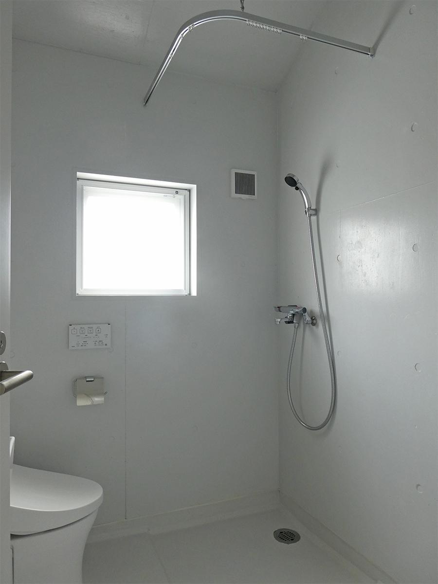 A棟の部屋はシャワーのみ
