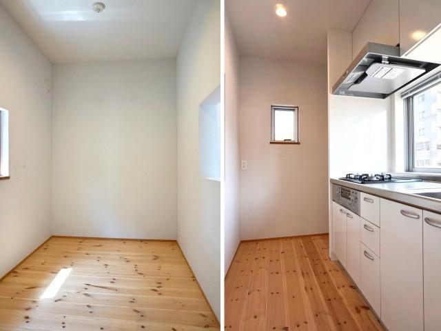 2階:大きなキッチンがついている