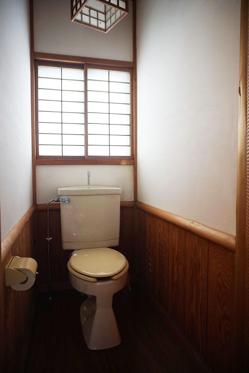 トイレの内装もいい感じ