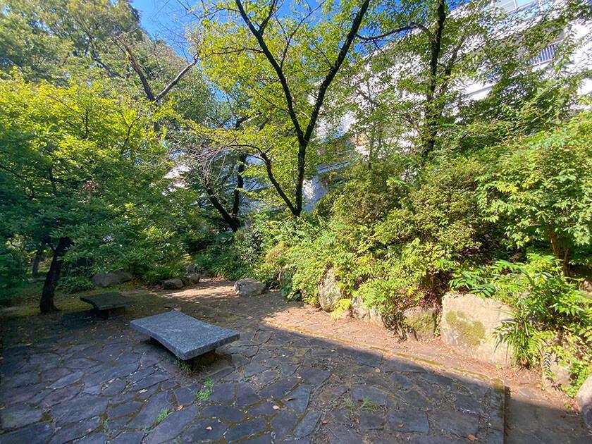 敷地内の中庭