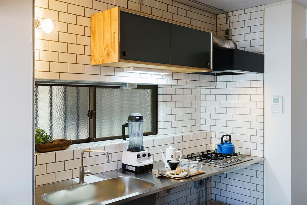 タイル貼りでいい雰囲気のキッチン