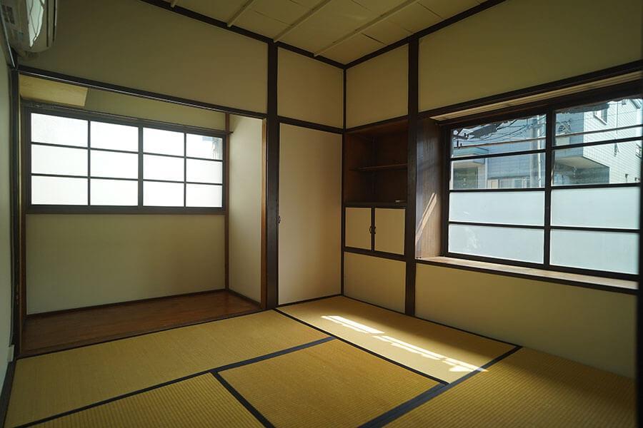 南と東2面に窓がある個室もあります