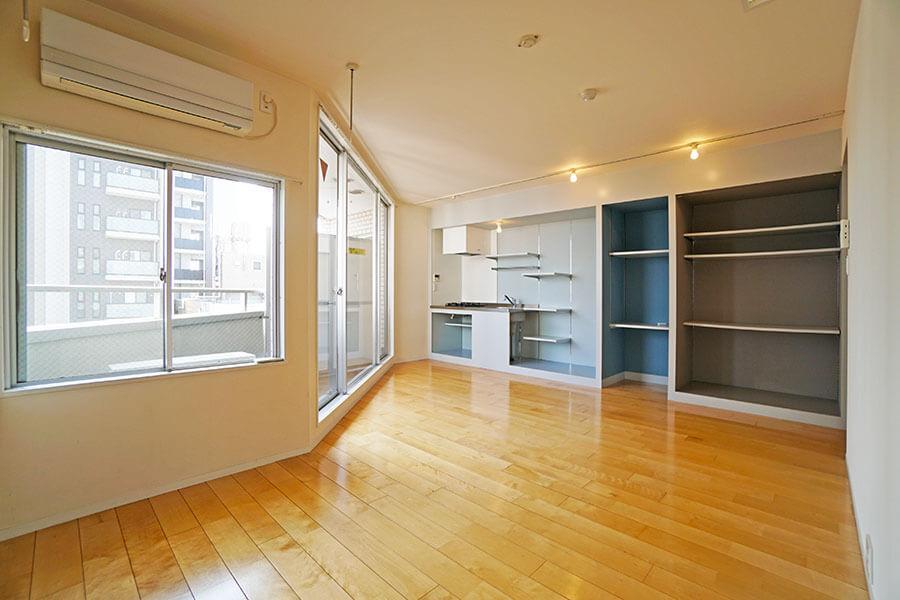 広々としたワンルーム。ひとり暮らしにちょうどいいお部屋です