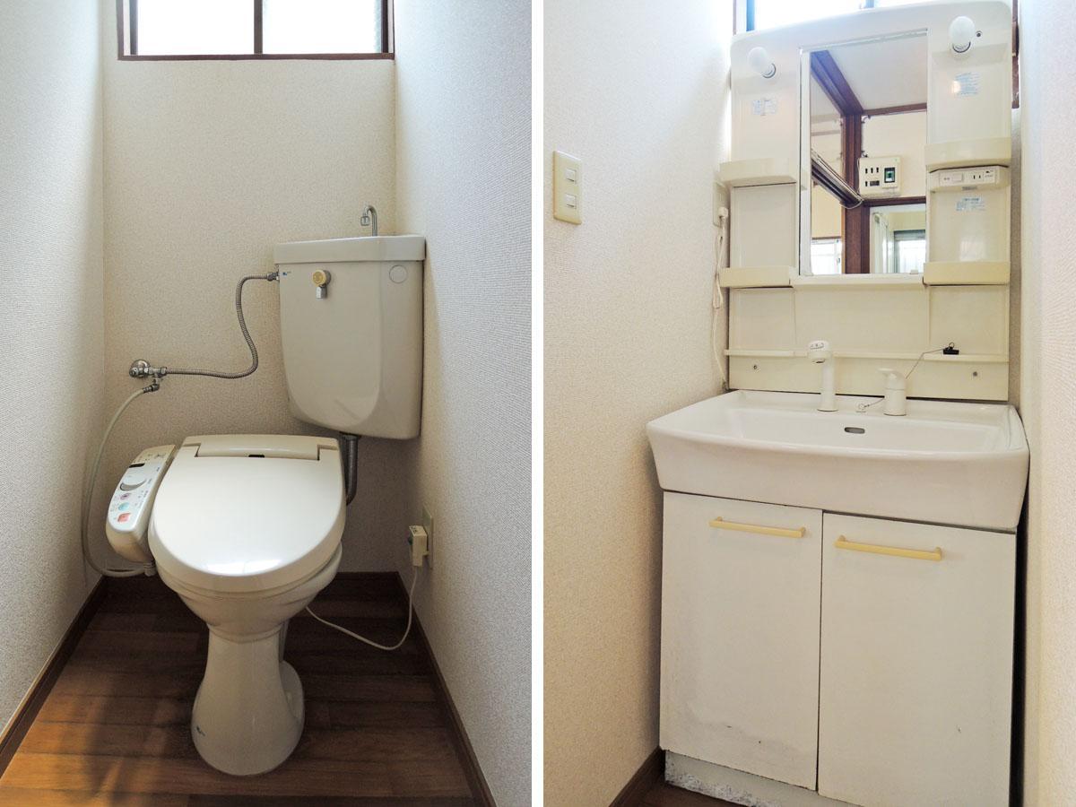 きれいめな1階トイレ/洗面台